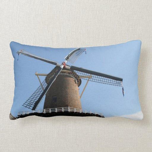"""Windmill """"Rijn en Lek"""", Wijk bij Duurstede Throw Pillow"""