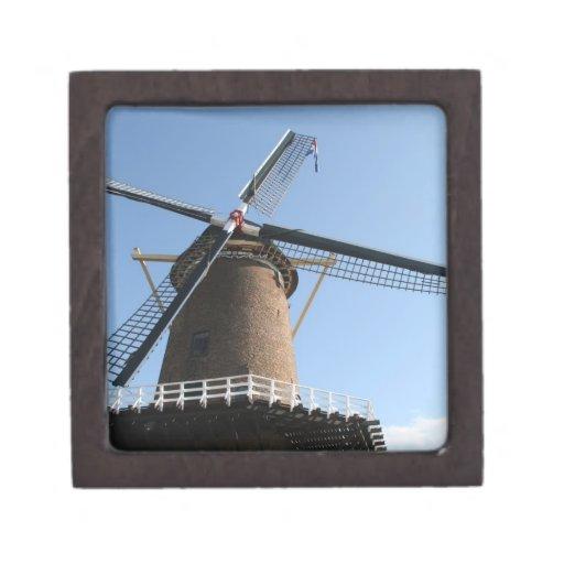 """Windmill """"Rijn en Lek"""", Wijk bij Duurstede Premium Jewelry Box"""