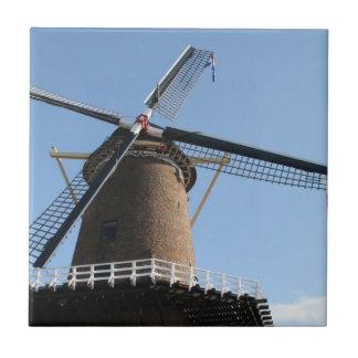 """Windmill """"Rijn en Lek"""", Wijk bij Duurstede Small Square Tile"""