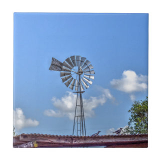 WINDMILL RURAL QUEENSLAND AUSTRALIA ART EFFECTS CERAMIC TILE