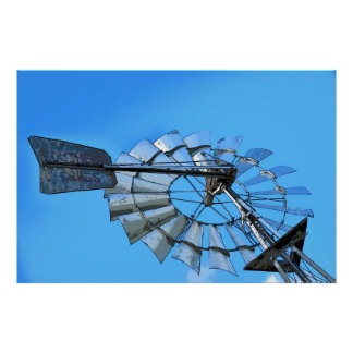 WINDMILL SOUTHERN CROSS RURAL AUSTRALIA ART POSTER