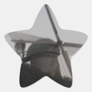 Windmill Star Sticker