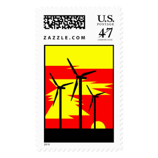Windmill Sunrise Color - Siemens Wind Power Postage