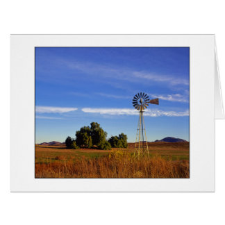 """ Windmill Sunrise "" Horizontal Card"