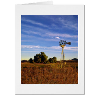 """ Windmill Sunrise "" Vertical Card"