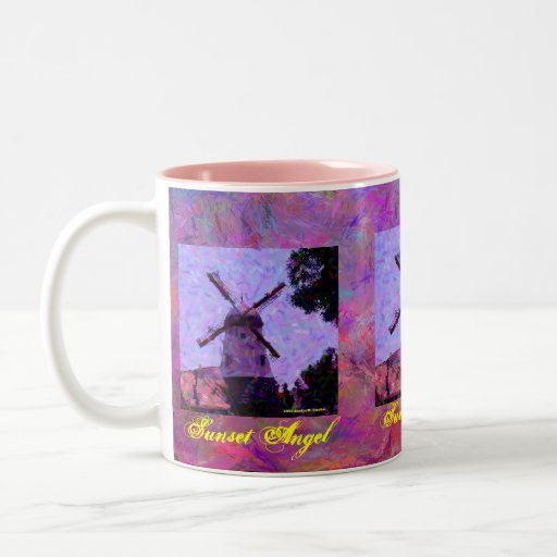 Windmill Sunset Angel Mug