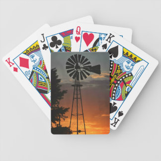 Windmill Sunset Bicycle Playing Cards