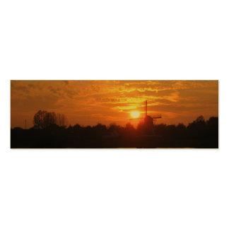 Windmill Sunset Holland Photo Bookmark Card Mini Business Card