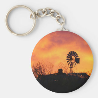 Windmill sunset keychain