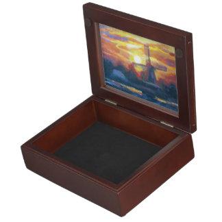 Windmill Sunset Memory Box