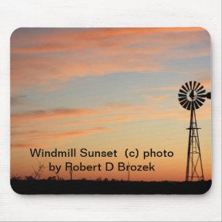 Windmill Sunset MOUSE PAD