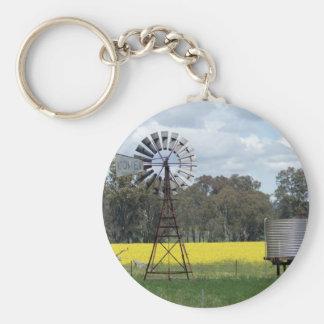 Windmill Tank Canola Basic Round Button Keychain