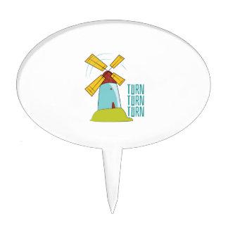 Windmill Turn Turn Turn Cake Topper