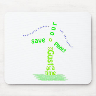Windmill Typography Mouse Pad