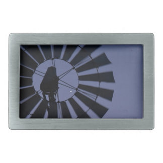 WINDMILL & VENUS RURAL QUEENSLAND AUSTRALIA RECTANGULAR BELT BUCKLE