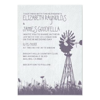"""Windmill Wedding Invitations 5"""" X 7"""" Invitation Card"""