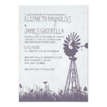 Windmill Wedding Invitations Custom Invite