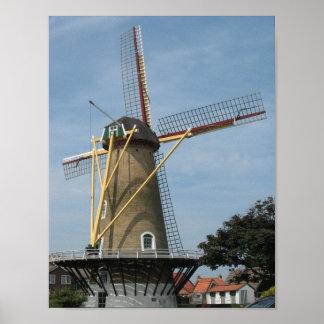 Windmill Westkapelle Zeeland Photo Poster