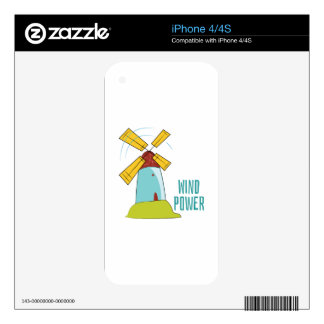 Windmill Wind Power Decals For The iPhone 4S