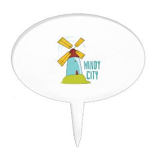 Windmill Windy City Cake Topper