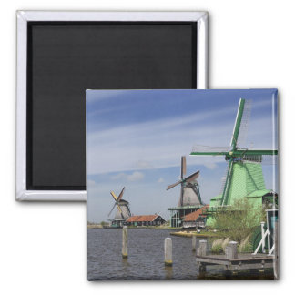 Windmill, Zaanse Schans, Holland, Netherlands 2 2 Inch Square Magnet