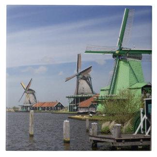 Windmill, Zaanse Schans, Holland, Netherlands 2 Ceramic Tile
