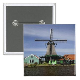Windmill, Zaanse Schans, Holland, Netherlands 3 Button