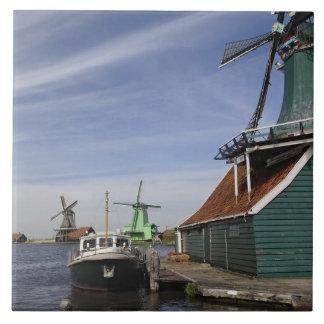 Windmill, Zaanse Schans, Holland, Netherlands Tile