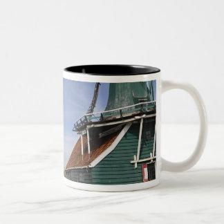 Windmill, Zaanse Schans, Holland, Netherlands Two-Tone Coffee Mug