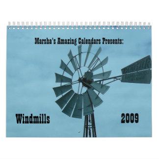 Windmills 2009 wall calendars