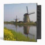 Windmills along the canal in Kinderdijk, Vinyl Binders