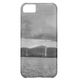 Windmills along the shore cover for iPhone 5C