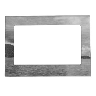 Windmills along the shore magnetic photo frame
