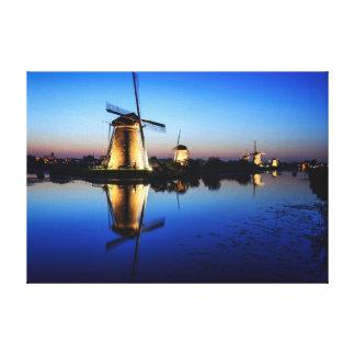 Windmills at Blue Hour canvas print