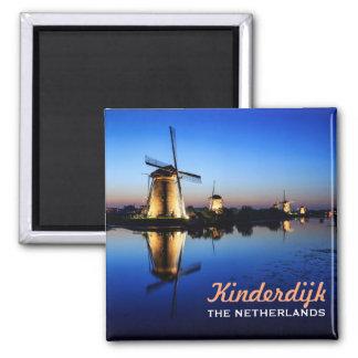 Windmills at Blue Hour in Kinderdijk magnet