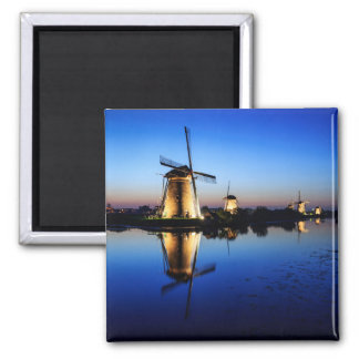 Windmills at Blue Hour magnet