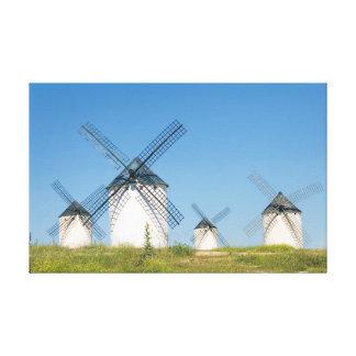 Windmills at Campo de Criptana Impresión En Lona Estirada