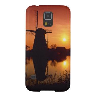 Windmills at sunset, Kinderdijk, Netherlands Galaxy S5 Covers