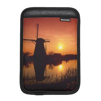 Windmills at sunset, Kinderdijk, Netherlands iPad Mini Sleeves
