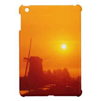 Windmills at sunset, Schermerhorn, Netherlands Case For The iPad Mini