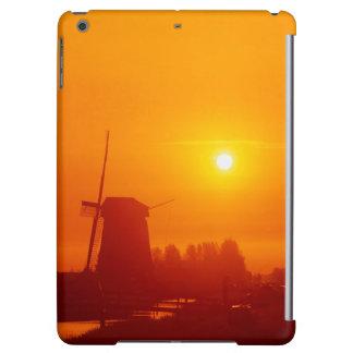 Windmills at sunset, Schermerhorn, Netherlands iPad Air Cover