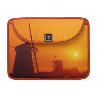 Windmills at sunset, Schermerhorn, Netherlands MacBook Pro Sleeves