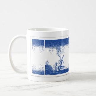 Windmills in Delft blue design Coffee Mug