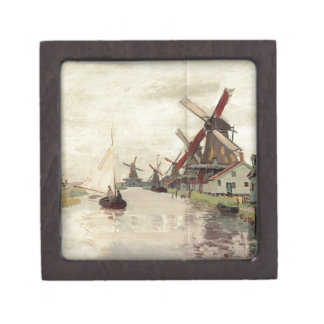 Windmills in Holland by Claude Monet Gift Box