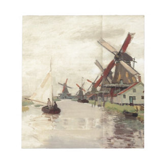 Windmills in Holland by Claude Monet Note Pad