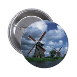 Windmills in Holland Pinback Buttons