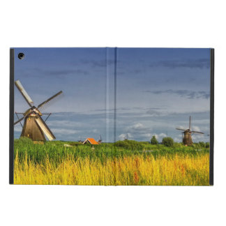 Windmills in Kinderdijk, Holland, Netherlands Cover For iPad Air