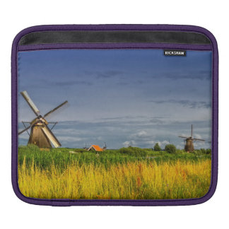Windmills in Kinderdijk, Holland, Netherlands iPad Sleeve