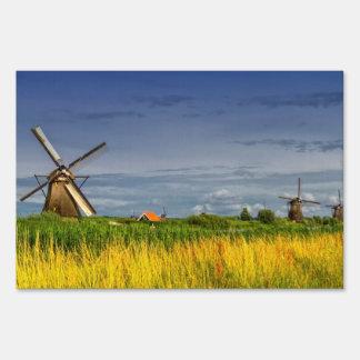 Windmills in Kinderdijk, Holland, Netherlands Sign