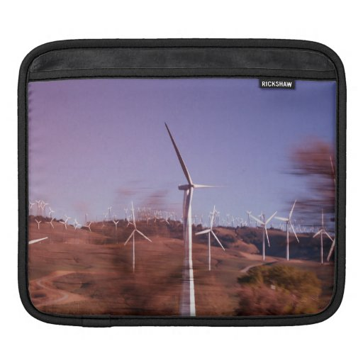 Windmills in motion iPad sleeves